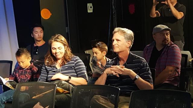 Teachers Lori Huntsman and Daren Bear